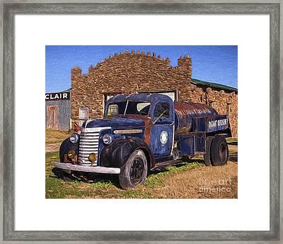 Gmc Tank Truck Framed Print by Joe Sparks