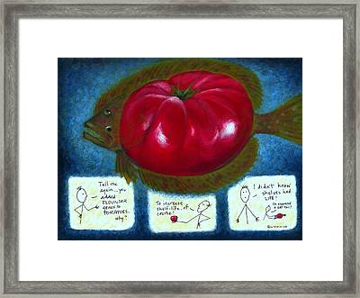 Gmo Tomfoolery Framed Print