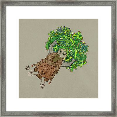 Gnome Framed Print by Ian Herriott