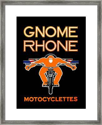 Gnome Rhone Motorcycles Framed Print by Mark Rogan