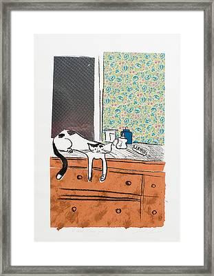 Go Ahead I Dare Ya. Framed Print by Leela Payne