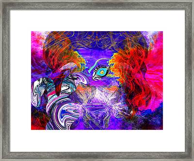 Go Ask Alice And The Mad Hatter Framed Print by Abstract Angel Artist Stephen K