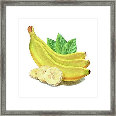 Framed Print featuring the painting Go Bananas Still Life by Irina Sztukowski
