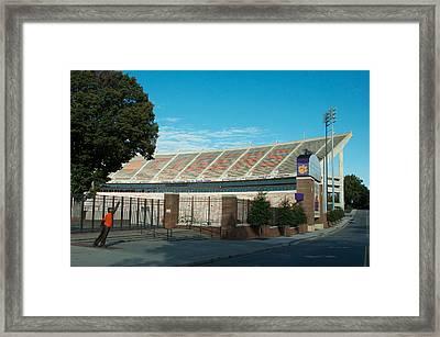 Go Clemson Framed Print