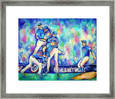 Go Cubs Go Framed Print by Amy Belonio
