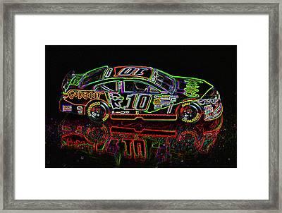 Go Daddy Nascar Stock Car Framed Print by Bruce Roker