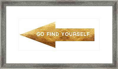 Go Find Yourself- Art By Linda Woods Framed Print