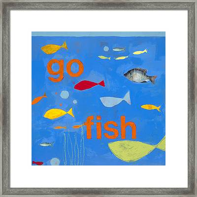 Go Fish Framed Print by Laurie Breen