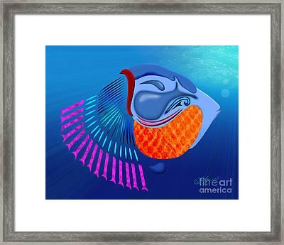 Go Fish Framed Print by Linda Seacord