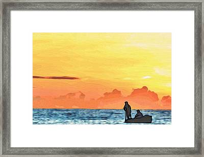 Go Fishing Framed Print