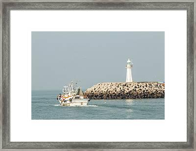 Go Fishing Framed Print by Hyuntae Kim