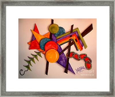 Go Fly A Kite Framed Print by Barbara Oberholtzer