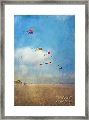 Framed Print featuring the photograph Go Fly A Kite by David Zanzinger