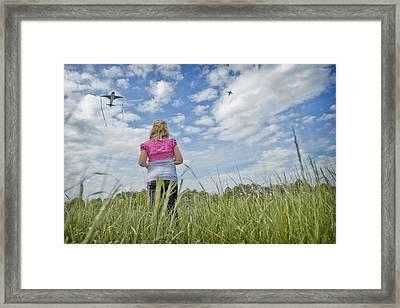 Go Fly A Kite Framed Print by Steve Shockley