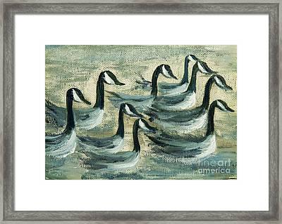 Go Geese Framed Print by Jodi Monahan
