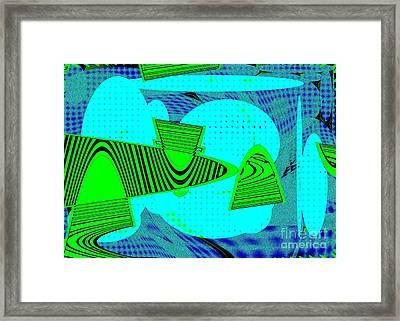 Go Green - Digital Art Framed Print by Marsha Heiken