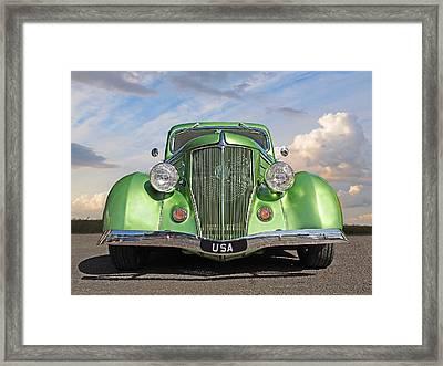 Go Green Framed Print by Gill Billington