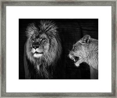 Framed Print featuring the photograph Go Hunting - I'm Hungry by Ken Barrett