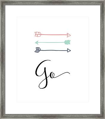 go Framed Print by Nancy Ingersoll