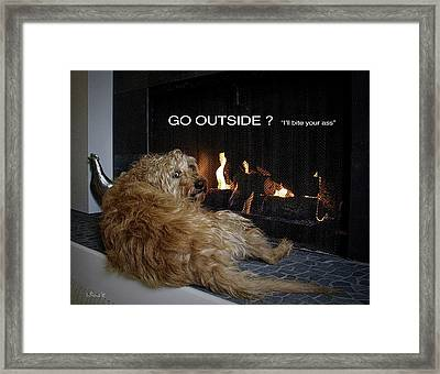 Go Outside ? Framed Print