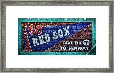 Go Red Sox Framed Print by Stephen Stookey