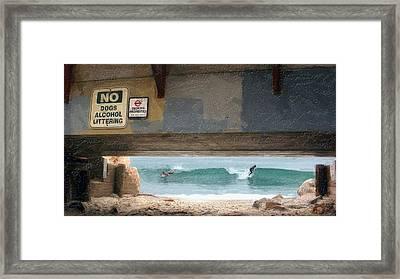 Go Right  Go Left Framed Print by Ron Regalado