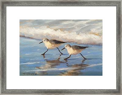 Go Sandpipers Framed Print by Tina Obrien