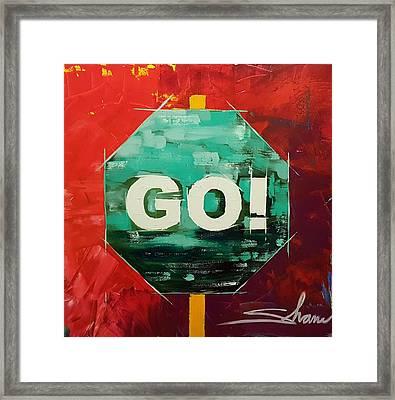 GO Framed Print