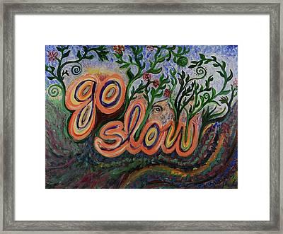Go Slow Framed Print
