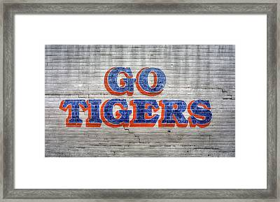 Go Tigers Framed Print by JC Findley