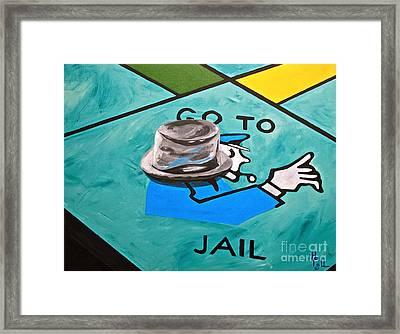 Go To Jail  Framed Print by Herschel Fall