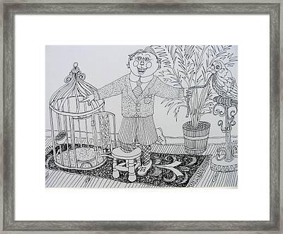 Go To Your Room Framed Print by Lou Cicardo