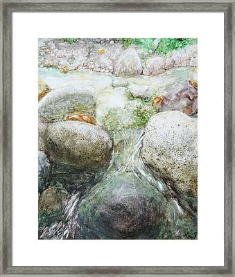 Go With The Flow Framed Print by Will Lewis