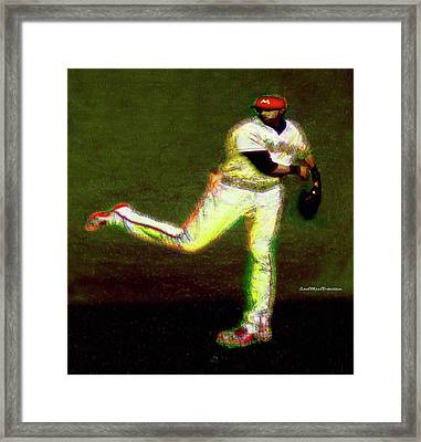 Go Yelich Baseball Art 1 Framed Print