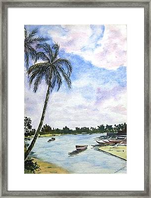 Goa Framed Print by Monika Deo