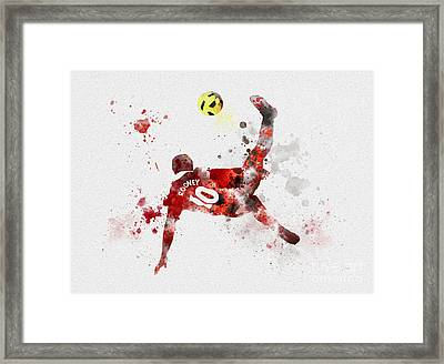 Goal Of The Season Framed Print by Rebecca Jenkins