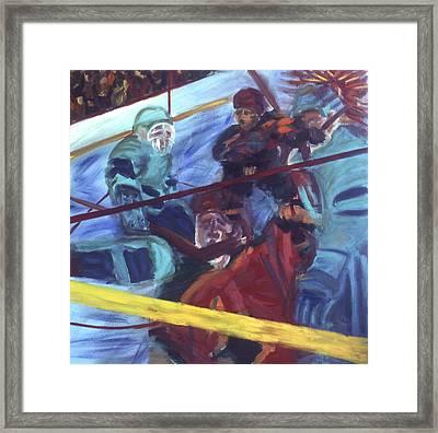 Goal Framed Print by Ken Yackel