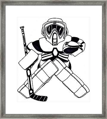 Goalie Speeder Framed Print by Hockey Goalie