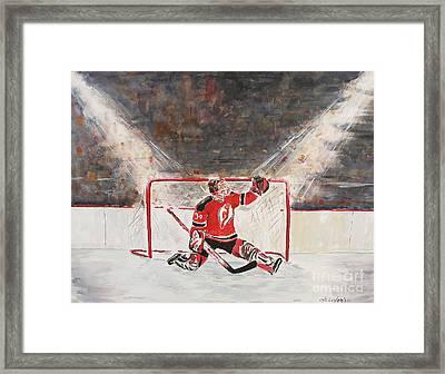 Goalkeeper Framed Print by Miroslaw  Chelchowski