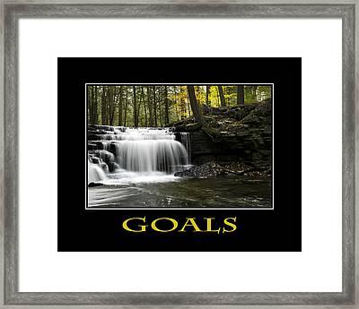 Goals Inspirational Motivational Poster Art Framed Print by Christina Rollo