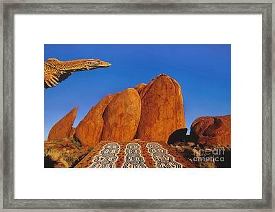 Goanna Lizard, Central Australia Framed Print by Frans Lanting/MINT Images