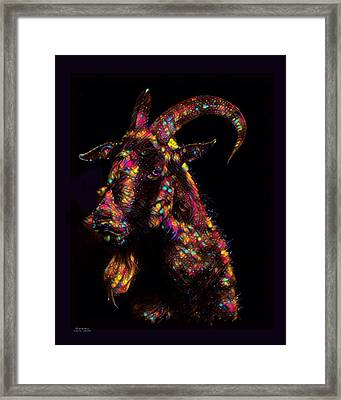 Goat Color Splash Framed Print