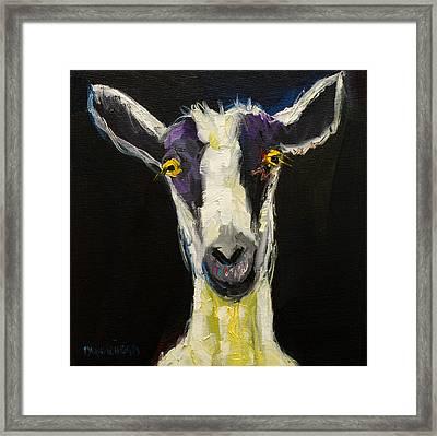 Goat Gloat Framed Print