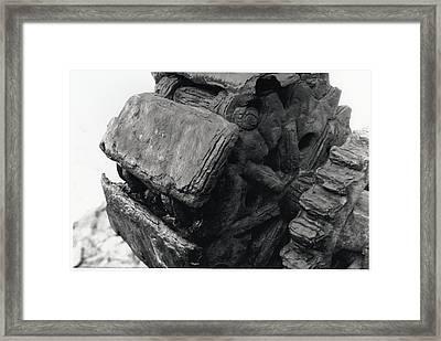Goat Rock Tractor Tread Jenner California Framed Print