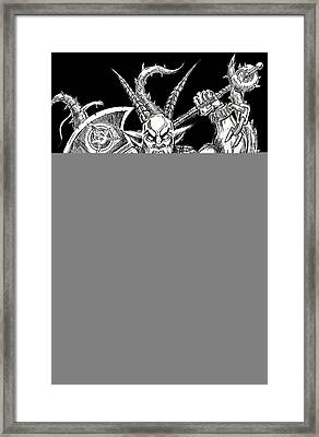 Goatlord In The Myst Black Edition Framed Print