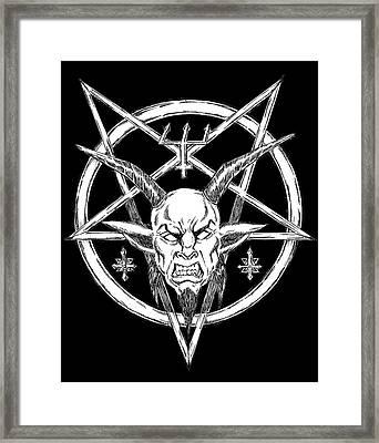 Goatlord Logo Black Framed Print