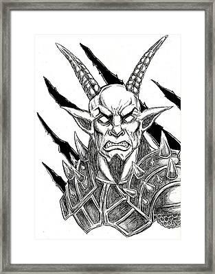 Goatlord Metal Claw Strike Framed Print