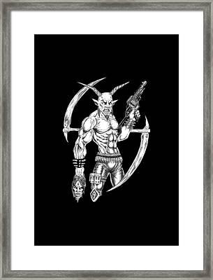 Goatlord Reaper Framed Print