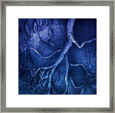 Go..away..blues Framed Print by S Csilla