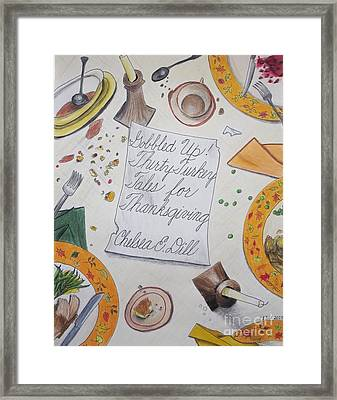 Gobbled Up Thirty Turkey Tales For Thanksgiving Book Cover Framed Print by CE Dill